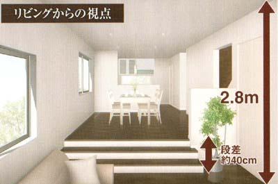 都市部の3階建てでも天井高2.8mの大空間が実現