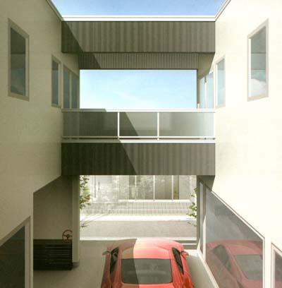 2Fホールや寝室・バルコニーからも愛車を見下ろせます。主寝室と子供部屋から出られるバルコニーは実用性にも優れます。