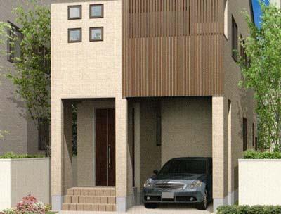 プライバシー/採光/狭小間口でも1台駐車