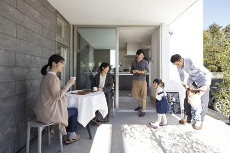 「のき」のオープンカフェ
